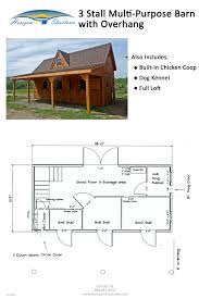 14x28 barn with overhang includes 3 stalls sized for miniature