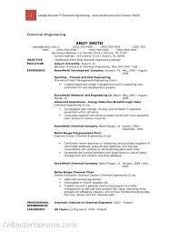 chemical engineering internship resume samples resume for your