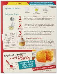 cake directions betty crocker yellow cake mix 15 25 oz grocery