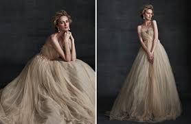 beige wedding dress beige wedding dress on onewed