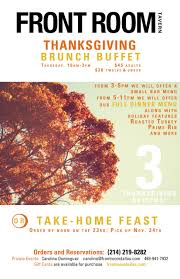 buffet dinner and take home thanksgiving meals offered at front