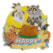 your wdw store disney happy thanksgiving pin 2015 percy and meeko