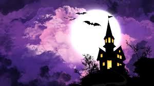 wallpaper haunted house bats moon hd 4k celebrations