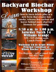 backyard biochar biochar education