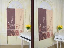 coffee kitchen curtains awesome cafe kitchen curtains taste