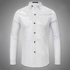 cheap men black polka dot shirts free shipping men black polka