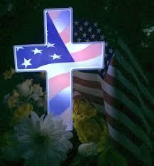 roadside crosses for sale eternal light solar american flag cross for cemetery grave