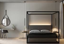 modern 4 post bed u2014 derektime design 4 post bed in beautiful and