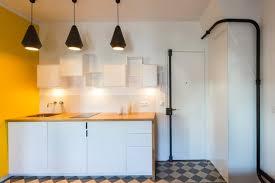 cuisine jaune et blanche cuisine minimaliste blanche et jaune