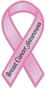 pink ribbon shaped awareness magnet breast cancer