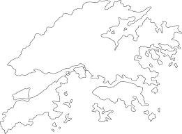 printable maps hong kong kong outline map