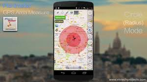 Radius On Map Planimeter Gps Area Measure On Android Circle Mode And Volume