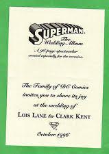 superman wedding album superman wedding album comic ebay