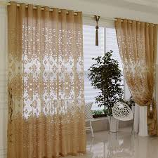 awesome elegant sheer curtains decorating with quality beige color