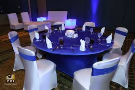 White Spandex Chair Covers Blue U0026 White Spandex Table And Chair Covers For A More Sleek And