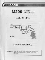 armscor m200 series revolver cal 38 spl user manual trigger