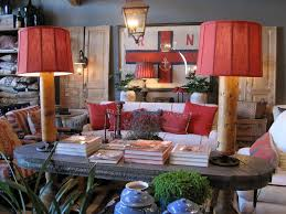 Red Blue And Grey Living Rooms Traditional Bohemian Style Living Room With Unique Table Lamp And