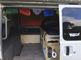 mitsubishi delica camper campervan seat and storage box
