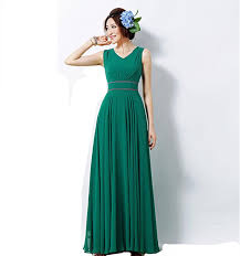 long chiffon bridesmaid dresses in emerald navy blue white a line