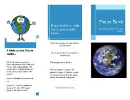 planetary travel brochure template earth sample by chicandcrafty