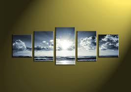 Wall Art Images Home Decor 5 Piece Black And White Wall Art