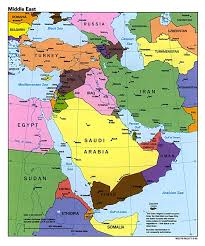 Political Map Asia by Large Political Map Of The Middle East With Major Cities And
