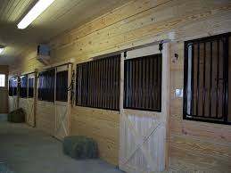 Sliding Horse Barn Doors by Sliding Stall Door With Custom Grills Precise Buildings
