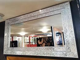 Large Mosaic Vase Mosaic Mirror Double Frame 128x68cm Dblmosaic128x68sil 199 99