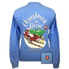 girlie originals christmas in dixie long sleeve t shirt