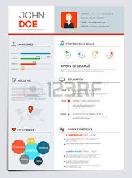 Flat Resume Design 2 558 Resume Template Cliparts Stock Vector And Royalty Free