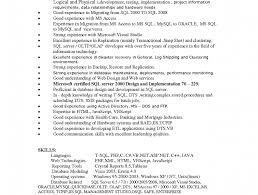 Sample Sql Dba Resume by Sql Resume Resume Example