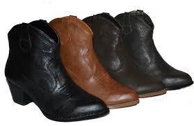 womens ankle boots uk ebay ankle high cowboy boots in 4 colors black d brown l brown gray