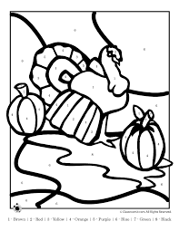 thanksgiving color by number pages 304255