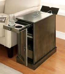 side table with power outlet lilith i side table w usb and power outlet gray end tables