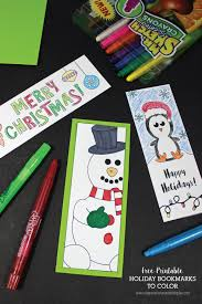 printable holiday bookmarks to color free printable and bookmarks