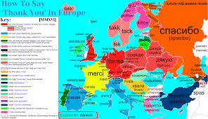 Europe Language Map by Lingcabulary U2014 How To Say U0027thank You U0027 In Europe With Etymology
