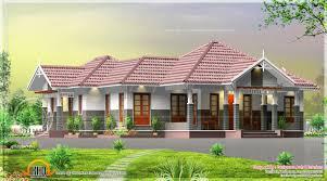 single floor courtyard 4 bedroom house kerala home design and