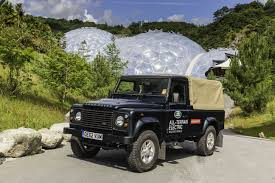 jaguar land rover defender electric land rover defender starts work at the eden project