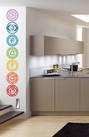 Meditation Home Decor Aiwall 7pcs Set Chakras Vinyl Wall Stickers Mandala Yoga Om