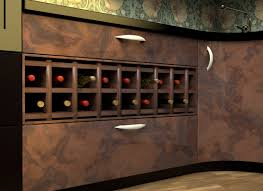 incorporate a wine rack under a kitchen counter 9 steps