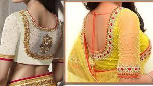 wedding blouses wedding blouses back neck with mirror work desings