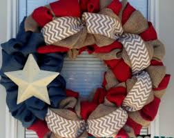 4th of july wreaths burlap wreath 4th of july white chevron by dallyupboutique