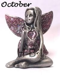 Birthstone Ornament Pewter Collectable Fairy Birthstone Ornament Gift Fairies Each