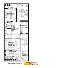 Houseplan by House Plan For 26 Feet By 60 Feet Plot Plot Size 173 Square Yards