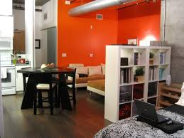 Orange Accent Wall by Orange Accent Wall For Modern Living Room Design For Small