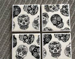Day Of The Dead Home Decor Skull Home Decor Etsy