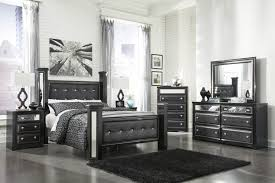 alamadyre 6 pc bedroom poster bed with dresser mirror