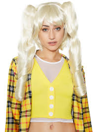 halloween city wigs blonde pigtail cosplay halloween wig dolls kill