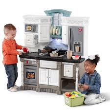 Pretend Kitchen Furniture Dream Kitchen With Extra Play Food Set Kids Toy Combo Step2