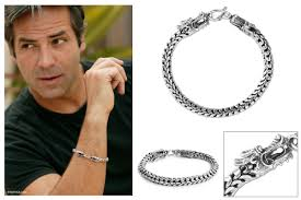 man sterling bracelet images Staggering mens sterling silver bracelets men s box link bracelet gif